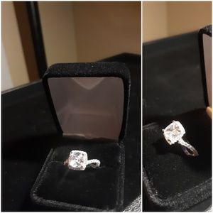 Cushion Cut Diamond Inspired Ring (FREE GIFT w/)